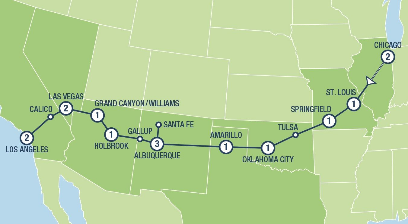 Historic Route 66 Tours And Vacation Packages In Usa And