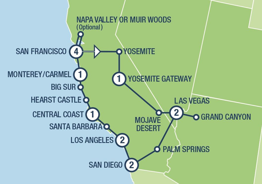 Image of: West Coast Insider Tours And Vacation Packages In Usa And Canada Tours Usa Com